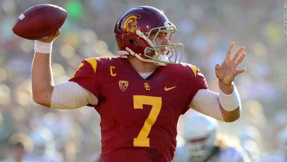 "Every year the NFL's 32 teams get to pick, in reverse order according to the previous year's standings, the top college talent. USC Trojans quarterback Matt Barkley is one of the most highly-rated for 2013. <a href=""http://www.nfl.com/draft/2013"" target=""_blank"">Follow the draft live here.</a>"