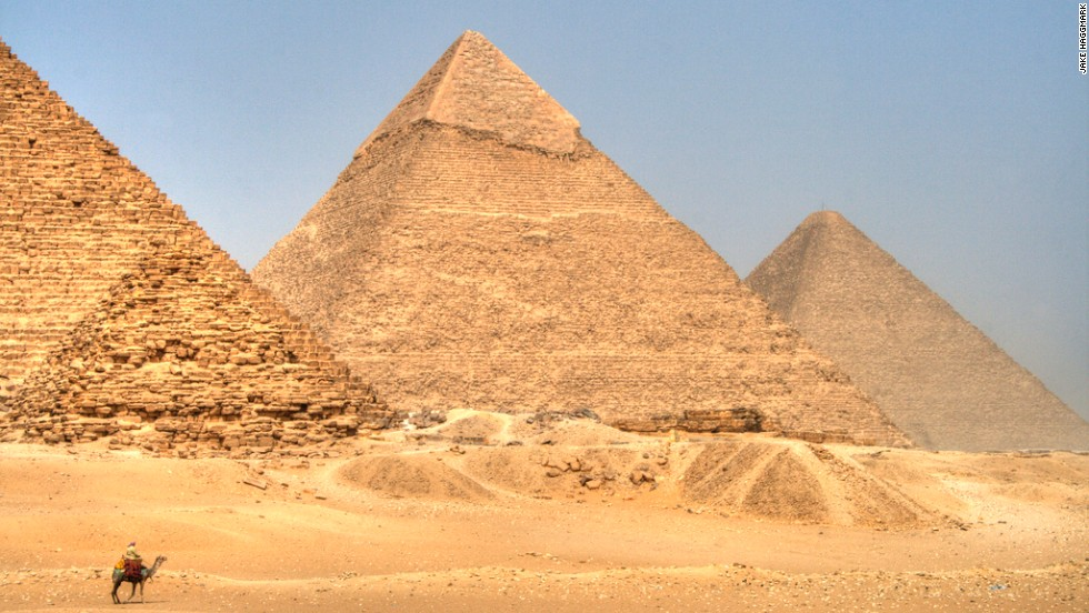 The Pyramid fields from Giza to Dahshur is one of the seven wonders of the world, and remains the only one of the original list still in existence.