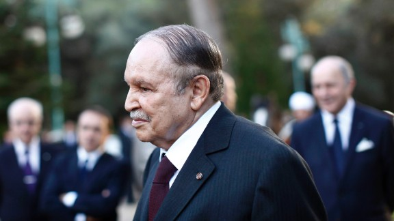 Algeria's President Abdelaziz Bouteflika is 81. Having been in his position since 1999, he is currently in his fourth term. He also served a long tenure as Minister of Foreign Affairs from 1963 to 1979.