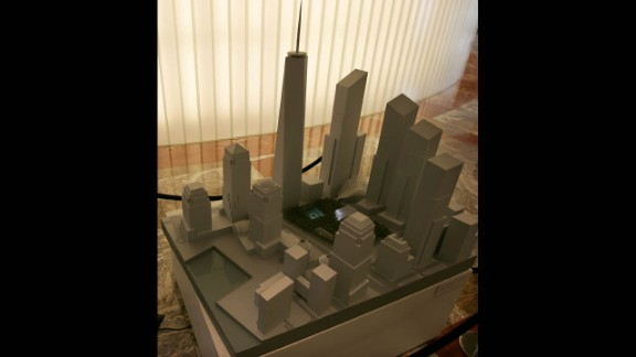 The site model of lower Manhattan with the Freedom Tower as designed by David Childs was on display at the Winter Garden on September 6, 2006, in New York.