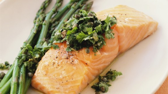 Participants in a German study who consumed the highest amount of a type of omega-3 fatty acid called EPA (found in fatty fish, like salmon) had a lower risk of developing hay fever. This substance might quash allergy symptoms by reducing inflammation in the body, Ogden says.  Don