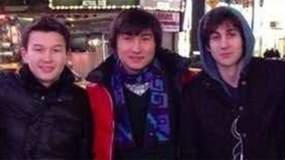 From left, Azamat Tazhayakov and Dias Kadyrbayev went with Boston bombing suspect Dzhokhar Tsarnaev to Times Square in this photo taken from the social media site VK.com. A federal grand jury charged Tazhayakov and Kadyrbayev with obstructing justice and conspiracy to obstruct justice relating to the removal of a backpack from Tsarnaev's dorm room after the bombings. Tazhayakov was convicted of conspiracy and obstruction charges in July 2014. He faces up to 25 years in prison at his sentencing in October. He has filed an appeal.