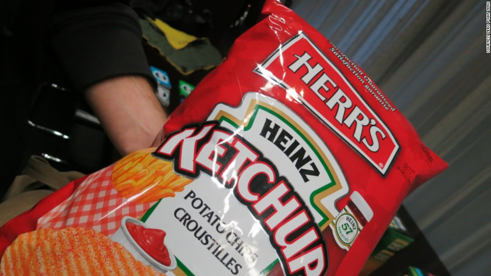 Herr's Ketchup Potato Chips are a popular snack food.