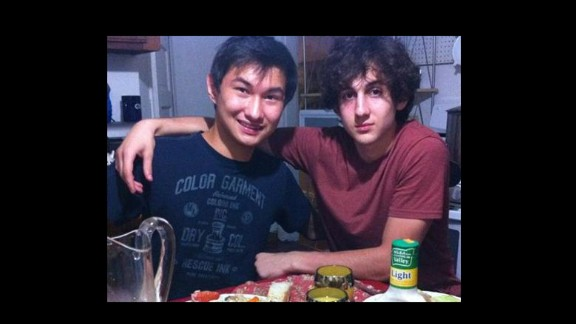Dias Kadyrbayev, left, with Boston Marathon bombing suspect Dzhokhar Tsamaev in a picture taken from the social media site VK.com. Kadyrbayev is expected to plead guilty August 21 to charges in connection with removing a backpack and computer from Tsamaev