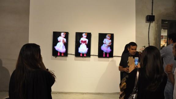Saudi artist Arwa Al Neami also showed her installation,