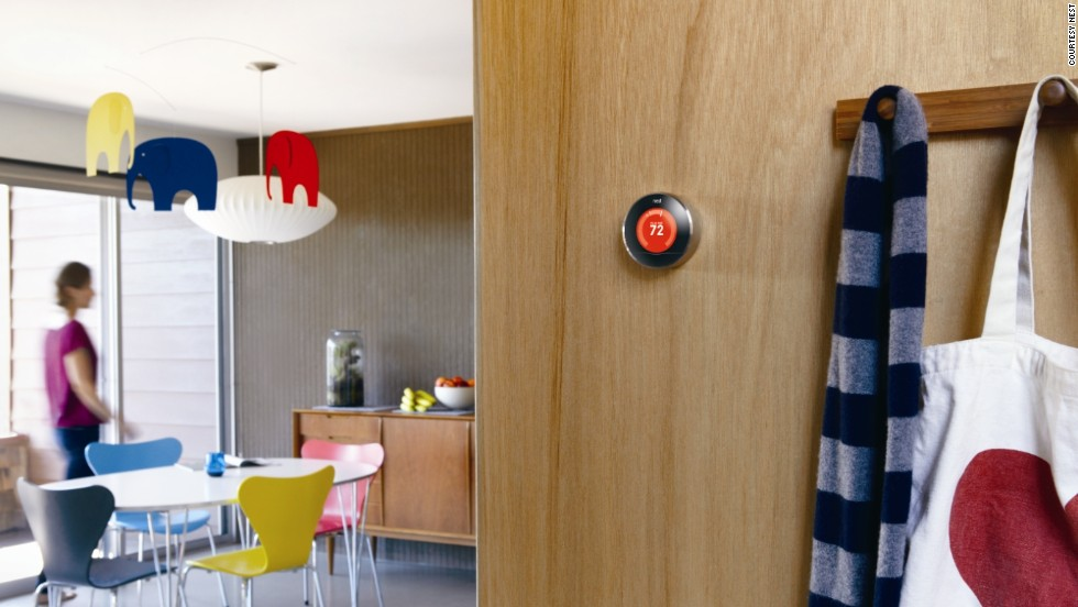 "The <a href=""http://www.nest.com/"" target=""_blank"">Nest thermostat</a> is another device that brings together elegant design with super-smart technology. It has the ability to remember, to learn about your lifestyle and adjust the temperature of your environment accordingly. Designed by former king of the iPod Tony Fadell, the thermostat turns down while you are away and can be controlled remotely via your smartphone. It looks cool too."