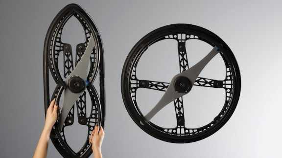 Another update of an ancient yet unbeatable design -- the wheel. Devised by Vitamins design, this is the first ever foldable wheelchair wheel, earning it this year's transport Design of the Year Award at London's Design Museum.