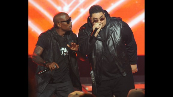 Heavy D, right, fronted Heavy D & the Boyz and was much beloved before his death in 2011. Here he performs with singer Tyrese at the 2011 BET Hip Hop Awards in Atlanta.