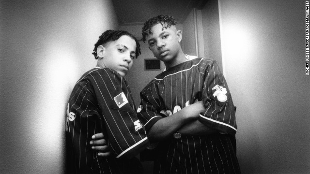 Chris Smith, left, and Chris Kelly of Kriss Kross pose for photo circa 1992. Kelly died May 1 at the age of 34. Atlanta-area authorities are investigating his death as a possible drug overdose, Fulton County Police Cpl. Kay Lester said.