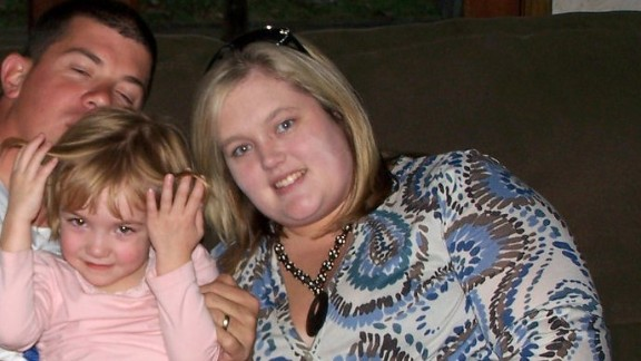 """This photo from 2008 is one of the few pictures that Robinson has of her and her family from before she started losing weight in 2009. """"I hated the way I looked in a picture,"""" she said. """"When you look at yourself in the mirror when you"""