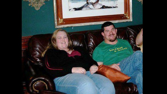 This image from 2008 is one of many turning points that Robinson said caused her to change her lifestyle.