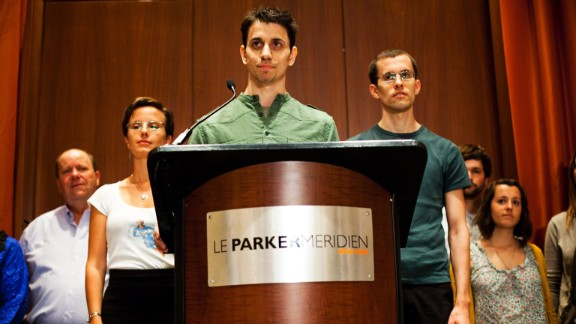Josh Fattal, center; Sarah Shourd, left; and Shane Bauer were detained by Iran while hiking near the Iraq-Iran border in July 2009. Iran charged them with illegal entry and espionage. Shourd was released on bail for medical reasons in September 2010; she never returned to face her charges. Bauer and Fattal were convicted in August 2011, but the next month they were released on bail and had their sentences commuted.