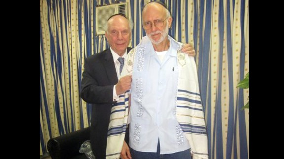 Alan Gross, at right with Rabbi Arthur Schneier, was jailed while working as a subcontractor in Cuba in December 2009. Cuban authorities say Gross tried to set up illegal Internet connections on the island. Gross says he was just trying to help connect the Jewish community to the Internet. Former President Jimmy Carter and New Mexico Gov. Bill Richardson both traveled to Cuba on Gross' behalf. He was eventually released in December.