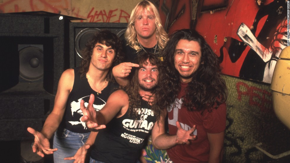 "The 1980s is famous for its hair metal, but Slayer, which<a href=""http://www.cnn.com/2013/05/02/showbiz/california-jeff-hanneman-obit/index.html?hpt=en_c1"" target=""_blank""> lost one of its founding members when Jeff Hanneman died</a> Thursday, stood apart. The band, seen here in 1986, earned acclaim throughout that decade with their distinctive take on thrash metal. Slayer wasn't the only group on the harder side -- here are eight other heavy metal favorites that we rocked to in the '80s:"