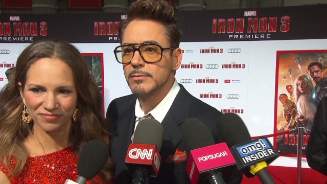 Robert Downey Jr at the Los Angeles premier of Iron Man 3. April 24, 2013.