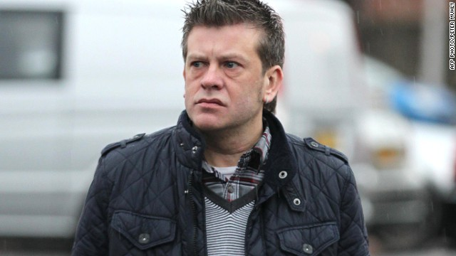 (File photo) Brian Shivers arrives at the Antrim Courthouse, Northern Ireland, on January 20, 2012.