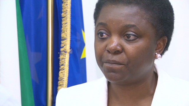Italy's 1st black minister faces racism