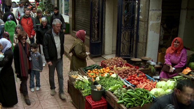 Anthony Bourdain at the souk in Tangier, Morocco. From Episode 5 of Anthony Bourdain Parts Unknown.