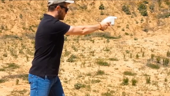 Cody Wilson test fires the 3D printed Liberator pistol in a video posted in 2013