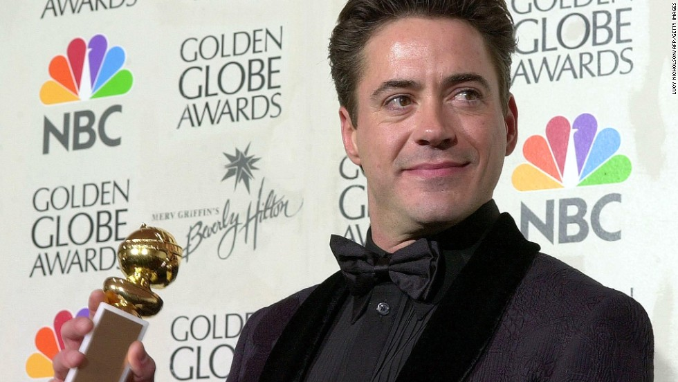 "Downey wins a Golden Globe for best supporting actor in a television show for ""Ally McBeal."""