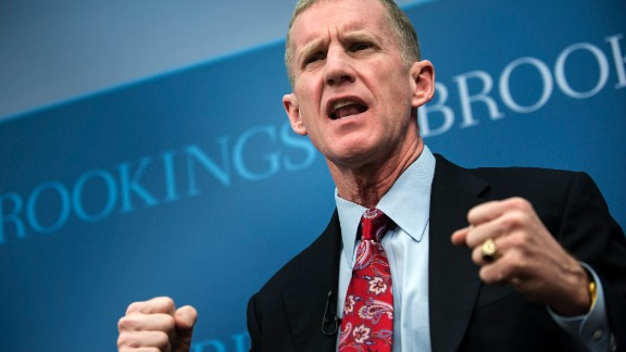 Retired U.S. Army Gen. Stanley McChrystal will speak at the University of Maryland Baltimore on May 17. Here, the former U.S. commander in Afghanistan speaks during a discussion at the Brookings Institution.