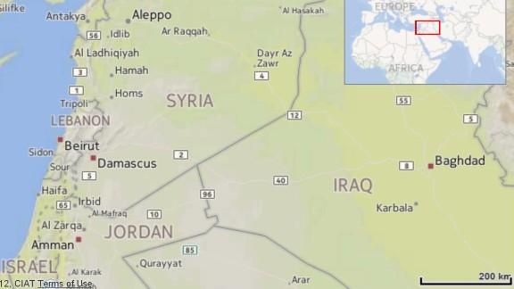 Map: Syria