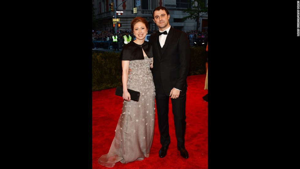 Chelsea Clinton and Marc Mezvinsky attend the gala.