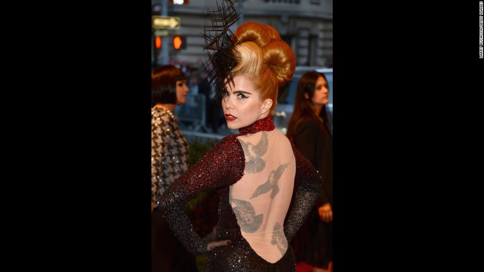 Singer Paloma Faith attends the gala.