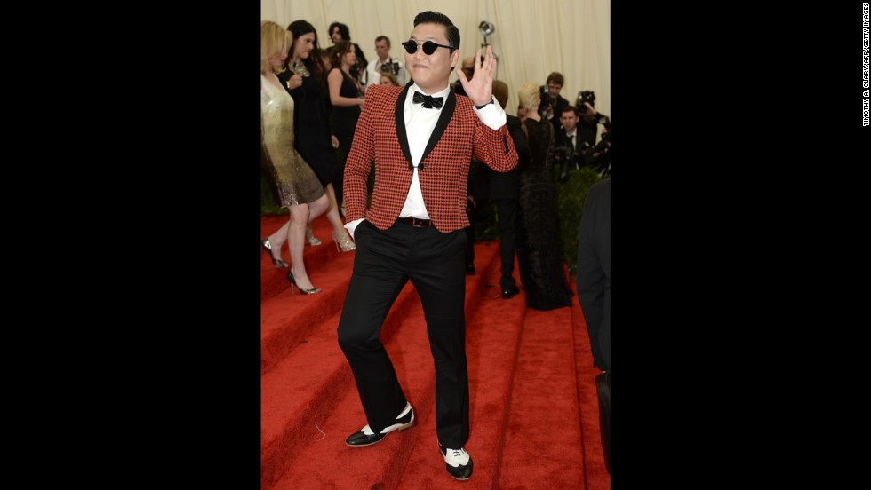 South Korean rapper Psy attends the gala.