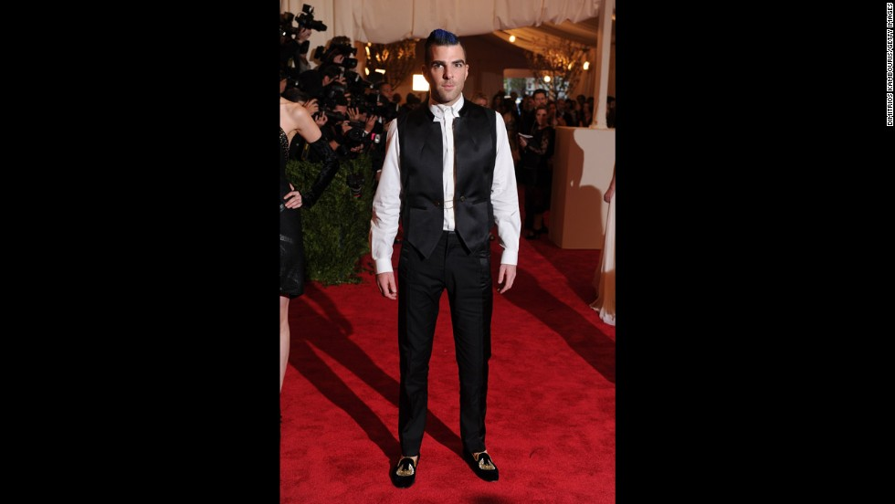 Actor Zachary Quinto attends the gala.