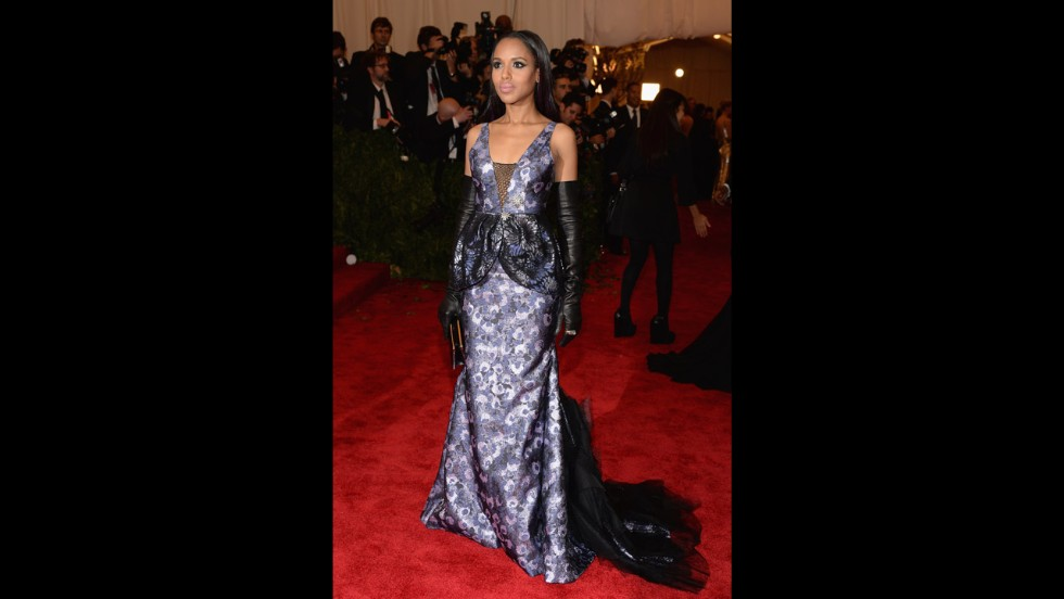 Actress Kerry Washington attends the gala.