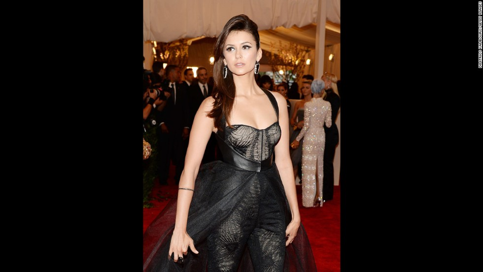 Actress Nina Dobrev attends the gala.