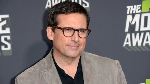 """Former """"The Office"""" star Steve Carell attends the MTV Movie Awards in April 2013."""