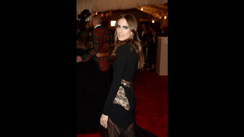 Allison Williams attends the gala.