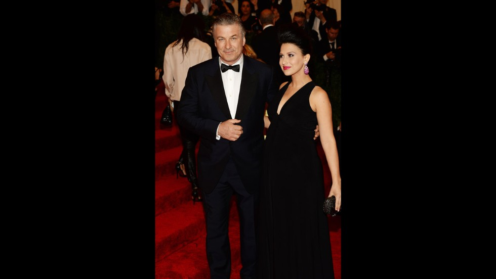 Alec and Hilaria Baldwin attend the gala.