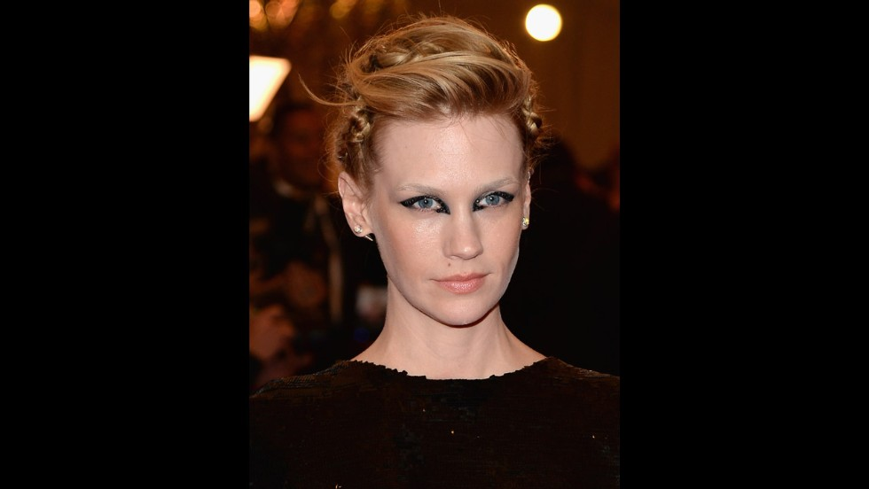 January Jones attends the gala.