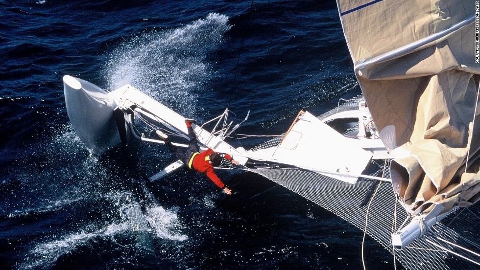 Despite Thebault's success, it hasn't all been smooth sailing. In 1994 Hydroptere broke the speed record at a whopping 104 kilometers per hour -- unfortunately capsizing shortly after.
