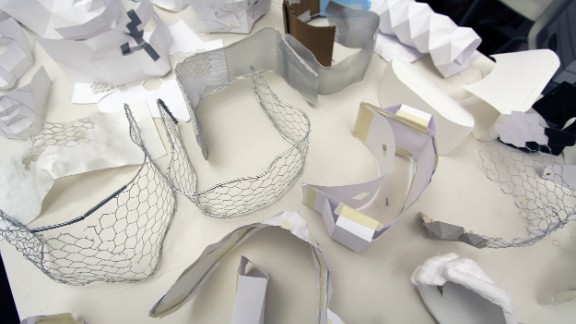 The Eidos team went through rounds of intense analysis and modeling, settling on a mixture of wearable materials and 3D printed parts that house functional electronic components such as transducers, speakers, cameras and displays.