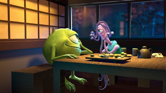 "The characters Mike and Celia from the 2001 Pixar film ""Monsters, Inc."" give an onscreen nod to Harryhausen when they go on a date to his fictional restaurant."