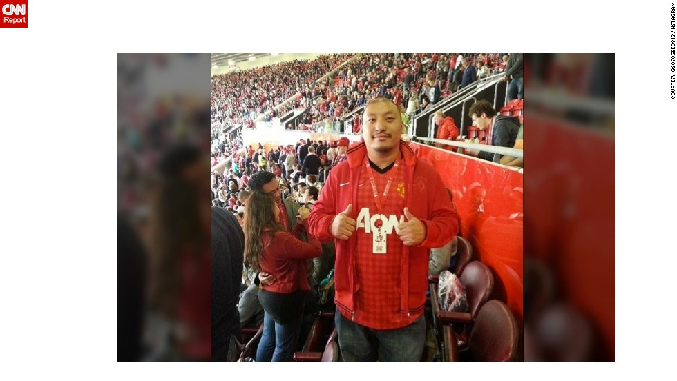 """The man will definitely be missed,"" said @sosogeed813, who shared this picture from his first Manchester United game. ""It was an experience of a lifetime ... It is the beautiful game after all. Thanks Sir Alex Ferguson!"""