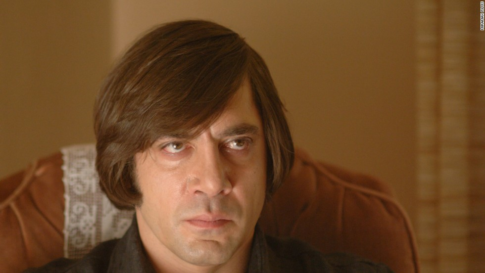 "Javier Bardem's Anton Chigurh, from the 2007 film ""No Country For Old Men,"" is one of the best villains as far as we're concerned. Directed and written by Ethan and Joel Coen, the cat-and-mouse thriller also stars Tommy Lee Jones and Josh Brolin."