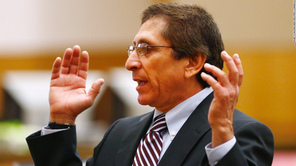 Prosecutor Juan Martinez makes closing arguments on May 2. Throughout the trial, prosecutors said Arias manipulated people as well as the evidence.