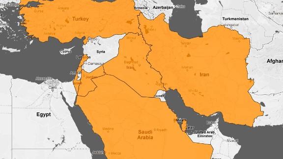 Syria regional map