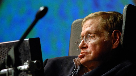 British astrophysicist Stephen Hawking delivers a lecture on May 11, 2008, on the outskirts of Cape Town, South Africa.