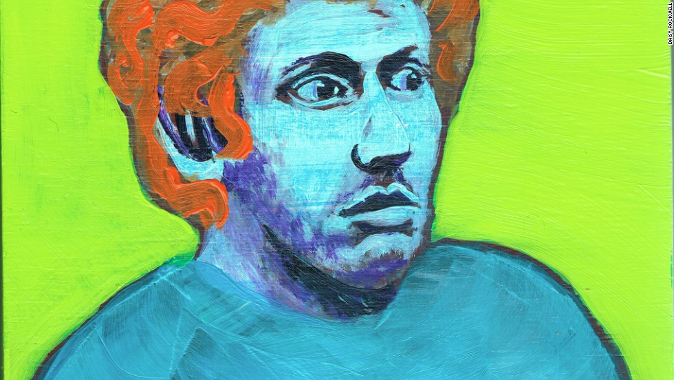 A portrait of Aurora movie theater James Holmes painted by Daisy Rockwell.