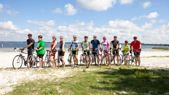 """It's group photo time for the """"6-Pack"""" and their coaches and fellow Fit Nation triathletes."""