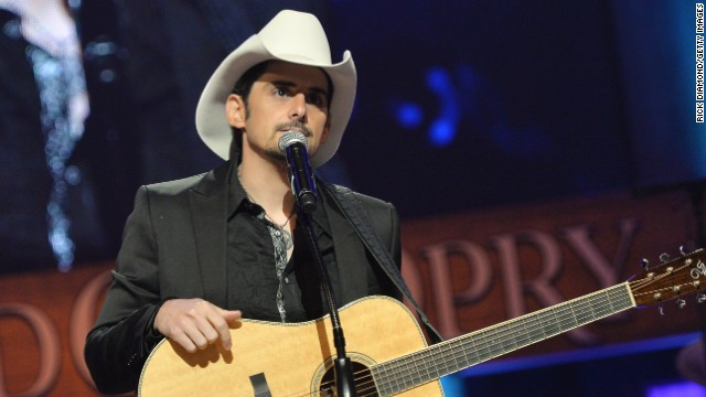 NASHVILLE, TN - MAY 02: (EXCLUSIVE COVERAGE) Country musician Brad Paisley performs at the funeral service for George Jones at The Grand Ole Opry on May 2, 2013 in Nashville, Tennessee. Jones passed away on April 26, 2013 at the age of 81. (Photo by Rick Diamond/Getty Images for Nancy Jones)