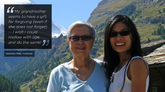 Breaking on to the world stage at 15 years old, Vanessa Mae is an internationally-renowned musician who is currently training to compete in the 2014 Winter Olympics in Sochi. While she does not have a close relationship with her mother, Vanessa remains extremely close with her grandmother Kim Chua (pictured together in Zermatt, Switzerland).