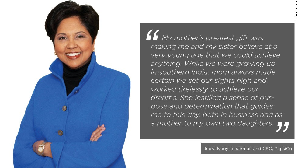 "Indian-American business executive Indra Nooyi is the present chairperson and CEO of PepsiCo. Last year, <a href=""http://www.forbes.com/profile/indra-nooyi/"" target=""_blank"">Forbes</a> ranked her 12th in their Power Women list."