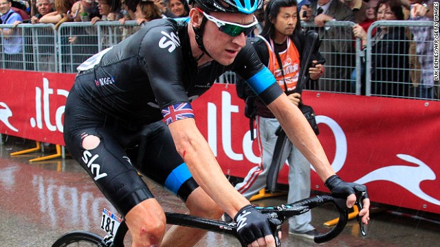 British cyclist Bradley Wiggins is hoping to win the prestigious Giro d'Italia for the first time.